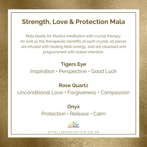 Strength, Love & Protection Mala Information