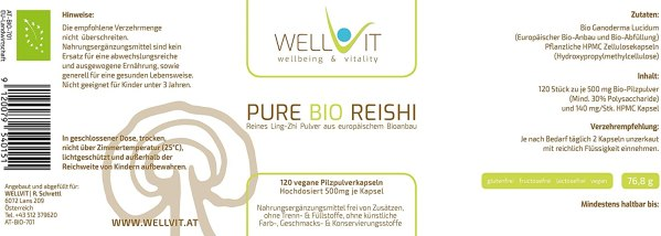 Pure Bio Reishi Kapseln