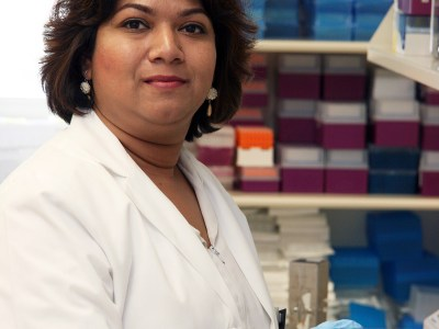 Choudhury researches in her lab