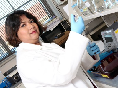 Mahua Choudhury, Ph.D., assistant professor at the Texas A&M Health Science Center Irma Lerma Rangel College of Pharmacy, is working to create a tool to test whether a pregnant woman at a very early stage of gestation could be at risk of preeclampsia.