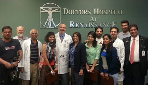 Tata students visit hospital