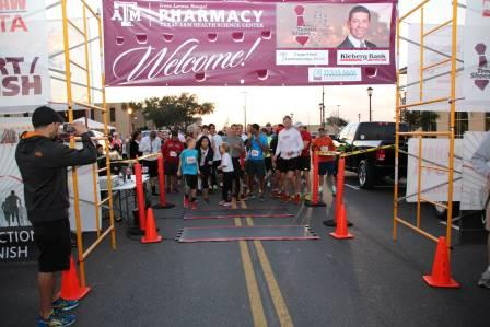 More than 250 community members, faculty, staff and students registered for the first Ties & Tennis Shoes 5K Memorial Run/Walk at the Texas A&M Health Science Center Irma Lerma Rangel College of Pharmacy on Feb. 21.