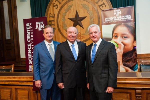 Texas A&M representatives and Senator Hinojosa