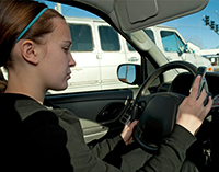 Texting and Driving Image