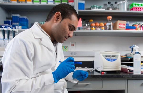 Male researcher in lab
