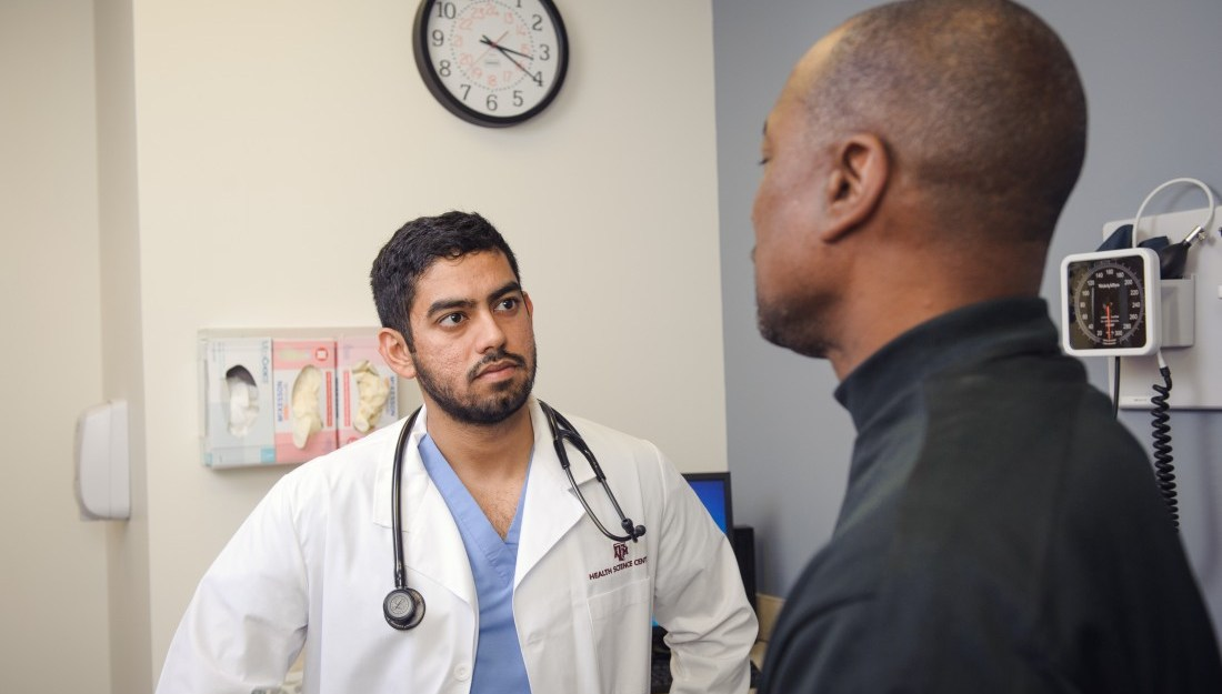 Discussing end-of-life care with physician.
