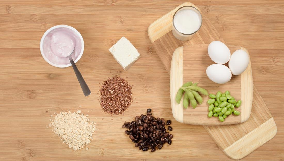 Protein on cutting board