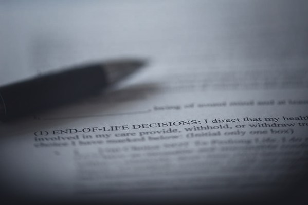 End of life paperwork