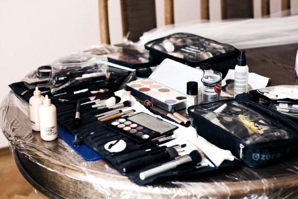 Assortment of makeup