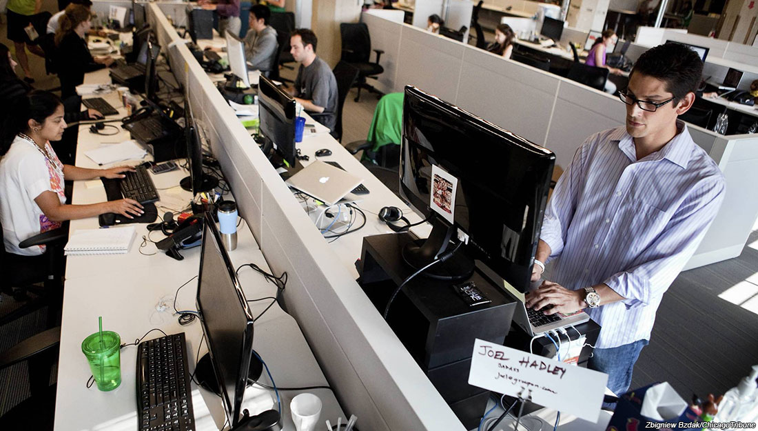 Boosting productivity at work may be simple: Stand up