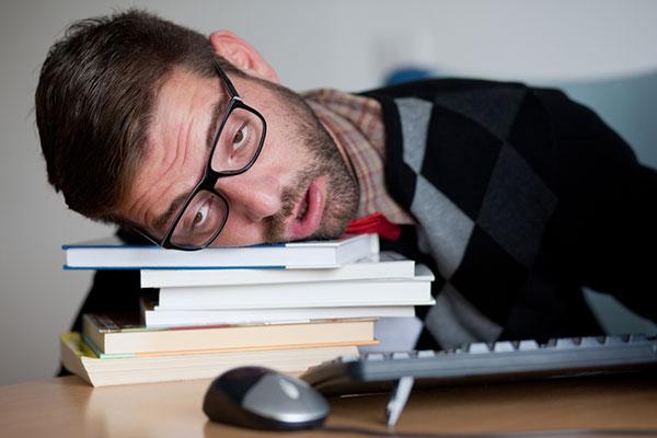 sleeping at desk