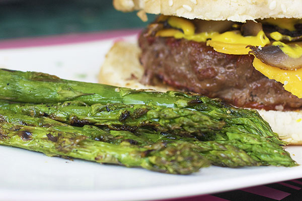 Grilled asparagus is a great side for your main dish