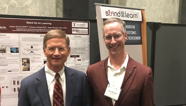 Benden (right) with House Science Committee Chairman Lamar Smith