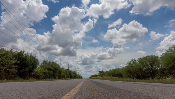 Two lane road in rural settings.