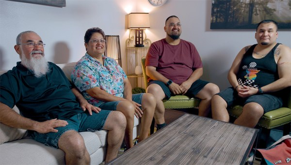 The Garcia family, Carlos Sr. (from left), Delphine, Carlos Jr. and Daniel, talk about working together to manage diabetes.