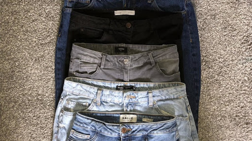 Same size jeans from different brands shows why try before you buy is necessary