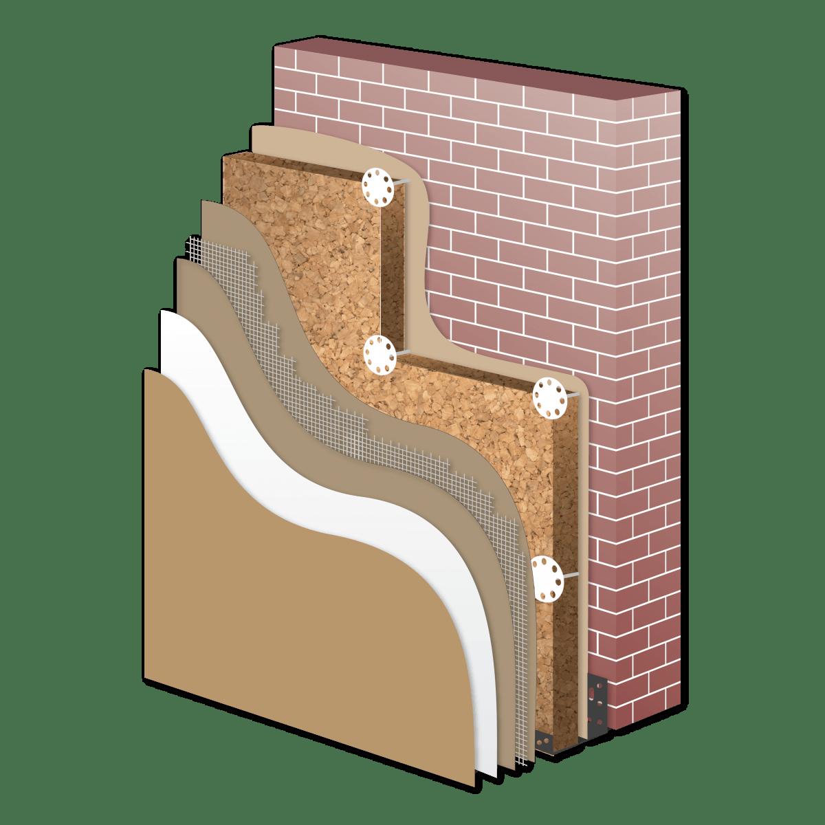 Sistema di isolamento in sughero biondo