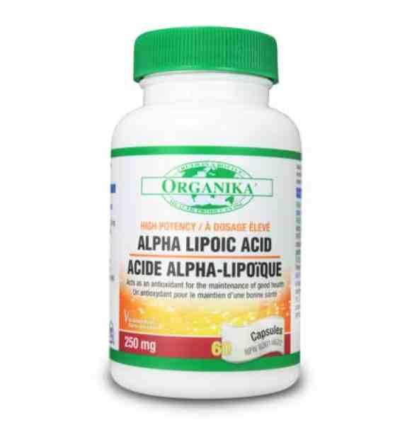 الفا لايبويك اسيد 250 ملغم 60 كبسولة Organika Alpha Lipoic Acid