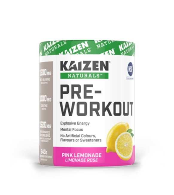 ماقبل التمرين نكهة الليمونادة Kaizen NATURAL PRE-WORKOUT 243g