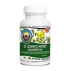 عشبة سانت جونز العضوي للاكتئاب 60 كبسولة Nova Scotia Organics St. John's Wort