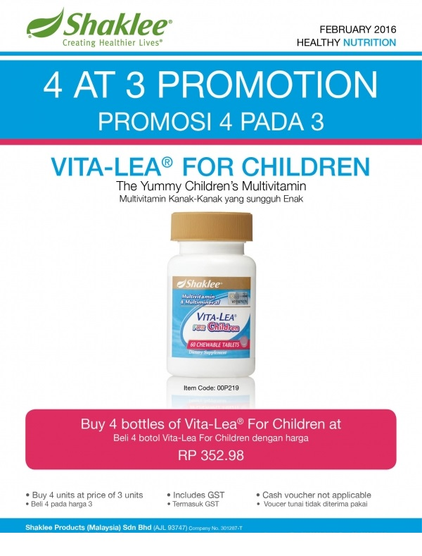 Promosi Shaklee Februari 2016 - Vitalea For Children