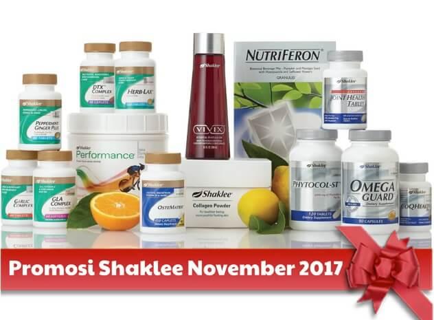 Promosi Shaklee November 2017