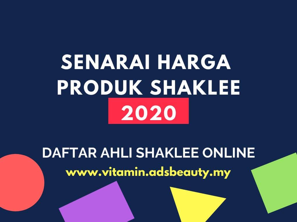 Senarai Harga Ahli Produk Shaklee 2020 Terkini Harga Ahli Shaklee 2020 Terbaru Daftar Ahli Shaklee Online Percuma