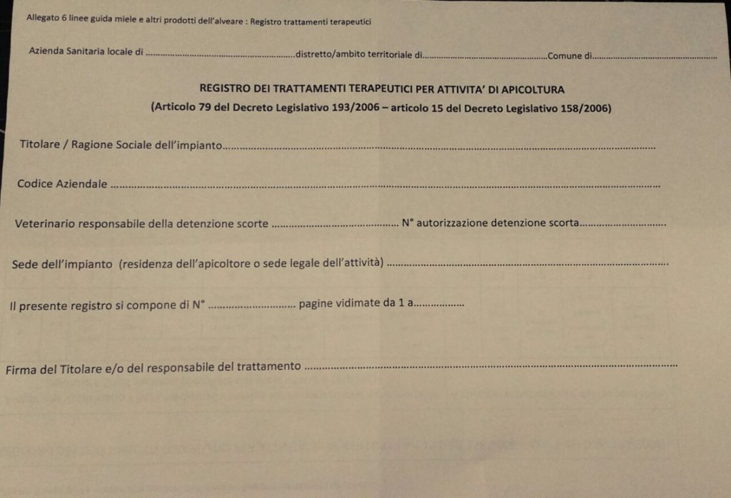 registo trattamenti anagrafe apistica