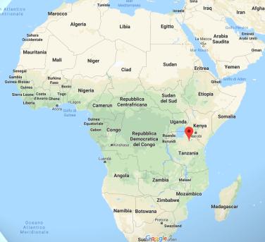 Gli Hadza vivono nella zona segnata dal puntatore. La Rift Valley si estende dalla Siria all'est dell'Africa in Mozambico.
