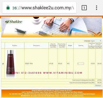 Cara Beli Vivix Shaklee Secara Online Terus Daripada Shaklee HQ8