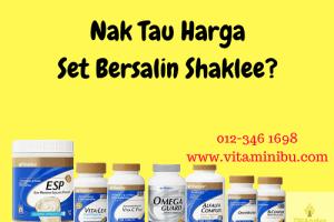Nak Tau Harga Set Bersalin Shaklee 2017 - Harga Set Berpantang Shaklee 2017