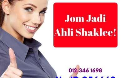 Guna Nombor ID Shaklee 956669 Untuk Daftar Ahli Shaklee