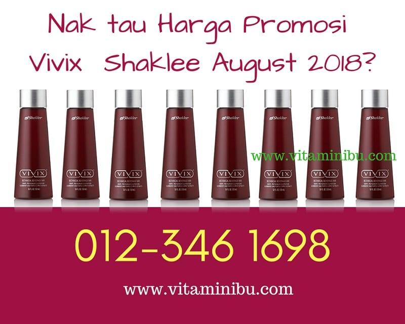 Harga Vivix Shaklee Murah – Promosi Vivix Shaklee 2018