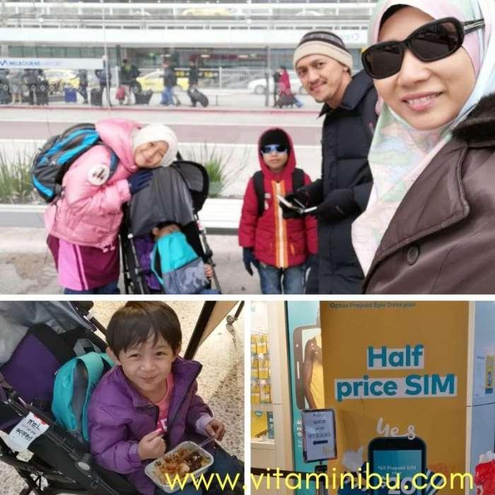 Pengalaman Bercuti Ke Melbourne Dengan Anak - Airport Melbourne - Simcard Australia