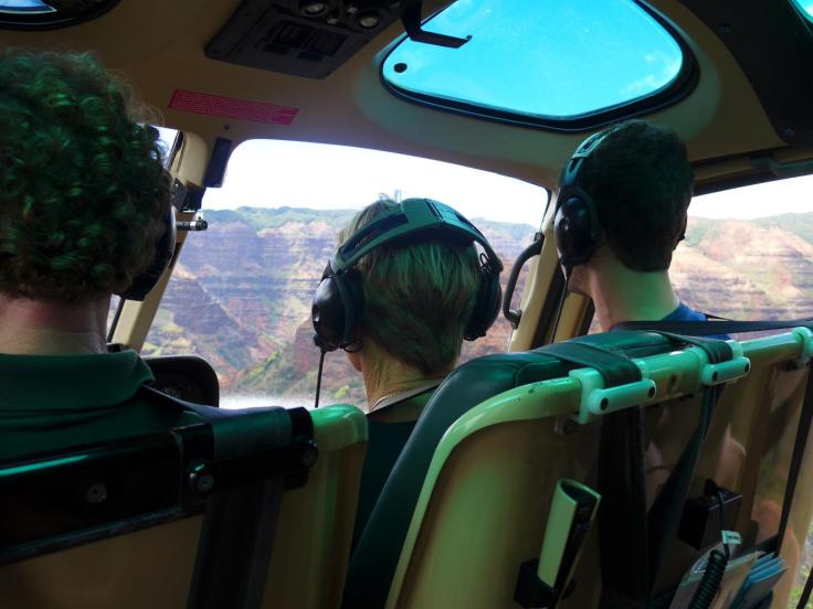 Travel to Hawaii -inside the helicopter