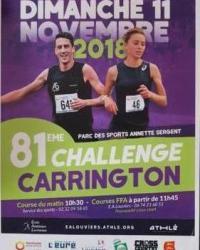 Cross Carrington du 11 novembre 2018 à Louviers. Pas de cours samedi 10 novembre.