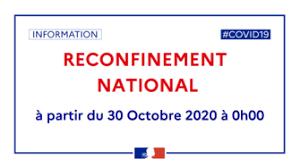 Cours adhérents suspendus suite au re-confinement du 30 octobre 2020