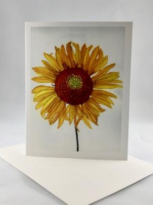 Yellow Blanket Flower Card Standing