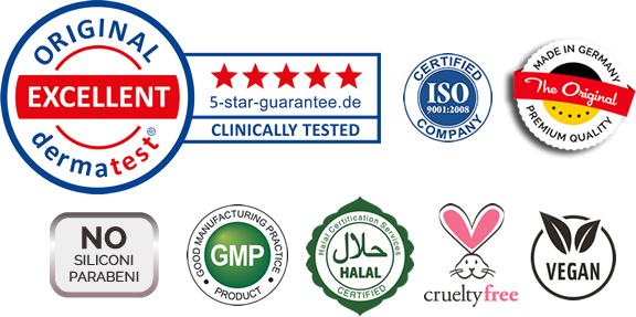 VITAYES certificato di qualità, test clinici, prodotti vegan e cruelty free