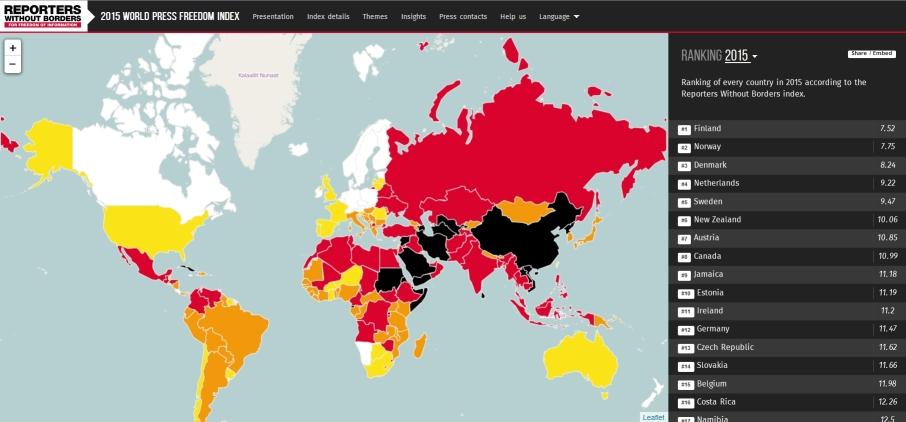 In Italia non c'è libertà di stampa