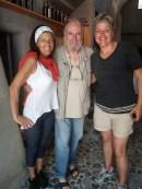 Antonis con Agnese e Maria Pia