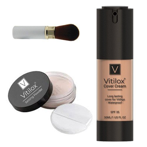 Vitiligo Cover Cream & Setting Powder by Vitilox®