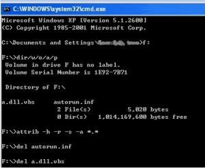 Loại bỏ Virut máy tính bằng Command Prompt