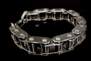 bracelet chaine moto artisanal vito art metal