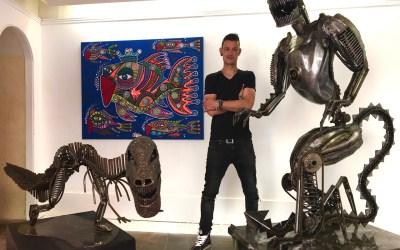 L'artiste Vito réalise un géant de fer de 2,20 m et 400 kilos