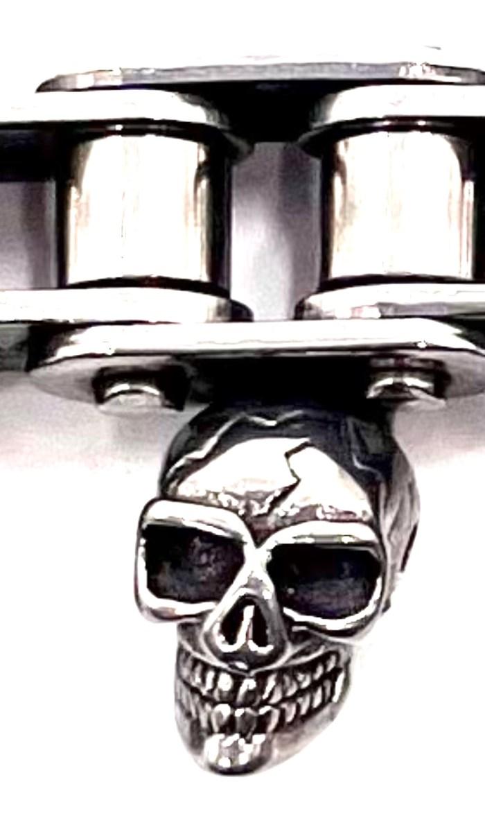 Bracelet chaine tête de mort acier inoxydable vitoartmetal