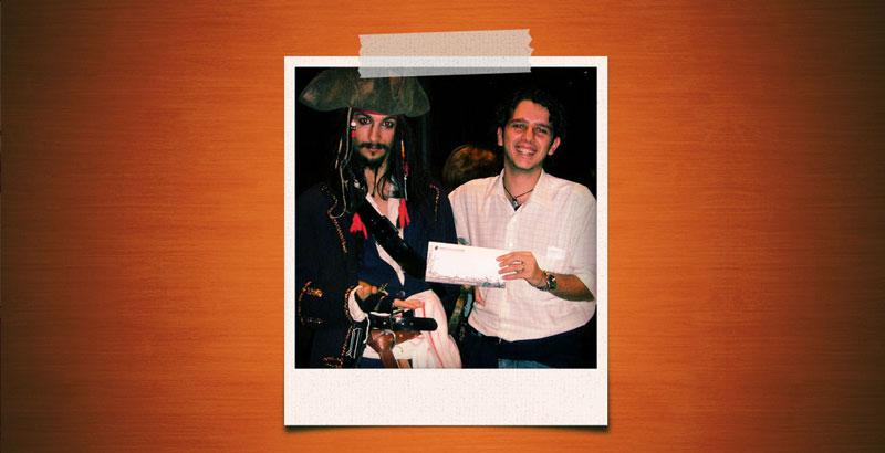 Piwi vs Jack Sparrow, Scuola Internazionale di Comics di Roma.