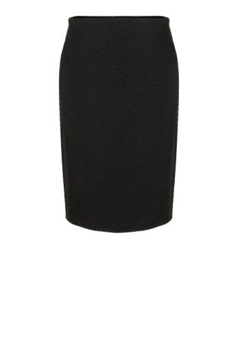 dzianinowa spodnica ołówkowa czarna tłoczona dzianina. Spódnica marki Vito Vergelis