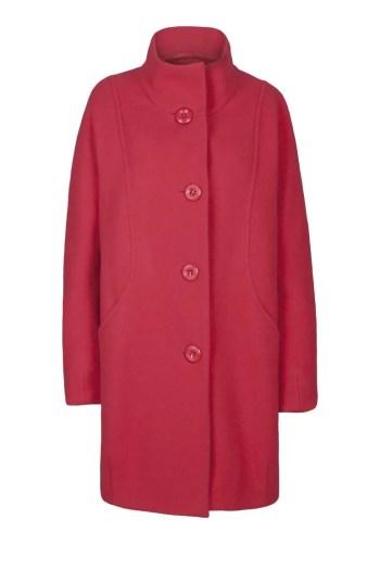 czerowna kurtka wełniana na guziki marki Vito Vergelis