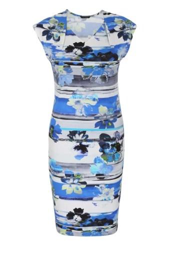 niebieska sukienka dzianinowa Vito Vergelis